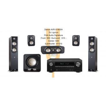 Denon AVRX1600H - Polk Audio S (S50) Series
