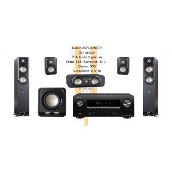Denon AVRX1600H - Polk Audio S (S55) Series
