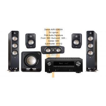 Denon AVRX2600H -  Polk Audio S  (S60) Series