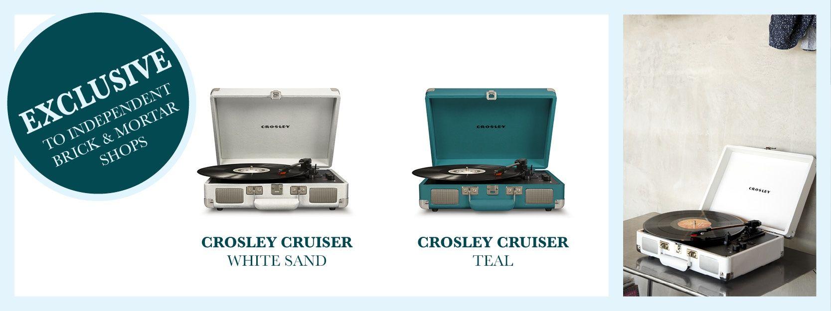 Crosley cruiser Teal & White Sand